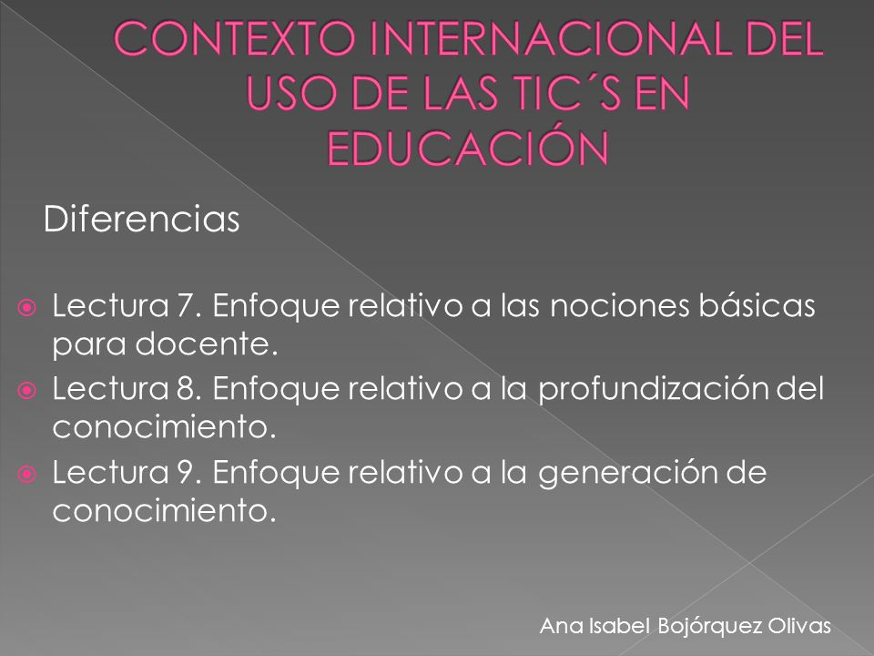CONTEXTO INTERNACIONAL DEL USO DE LAS TIC´S EN EDUCACIÓN