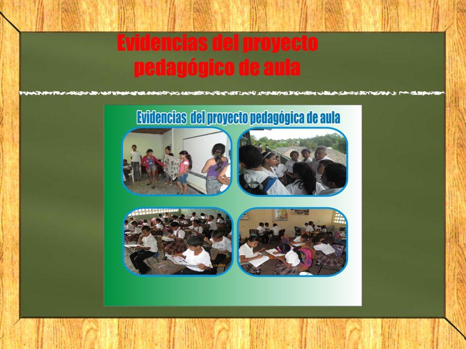 Evidencias del proyecto pedagógico de aula