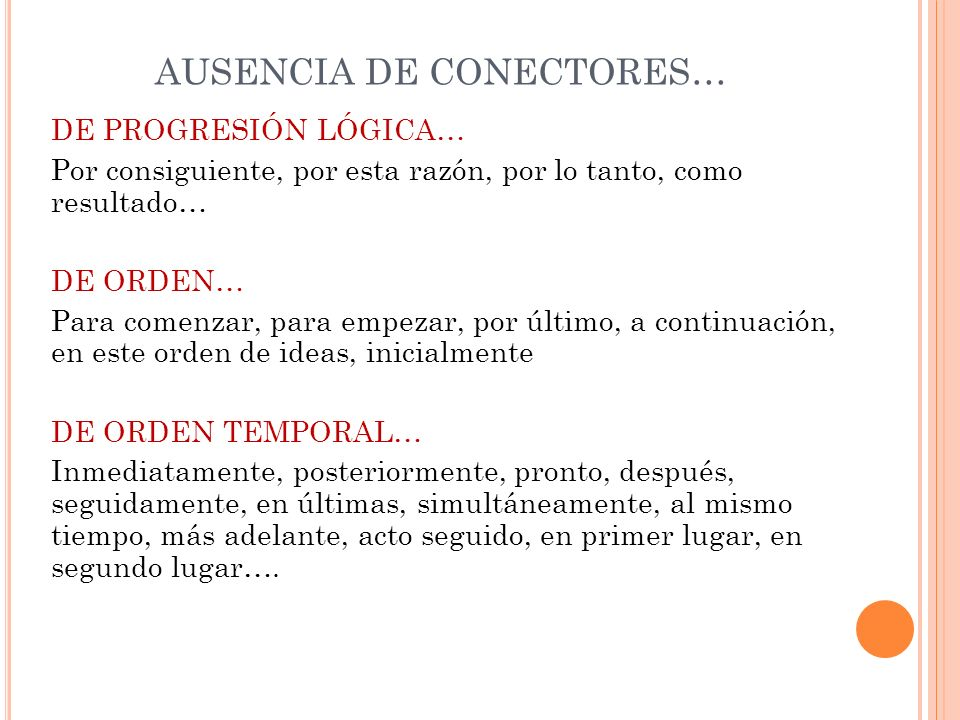 AUSENCIA DE CONECTORES…