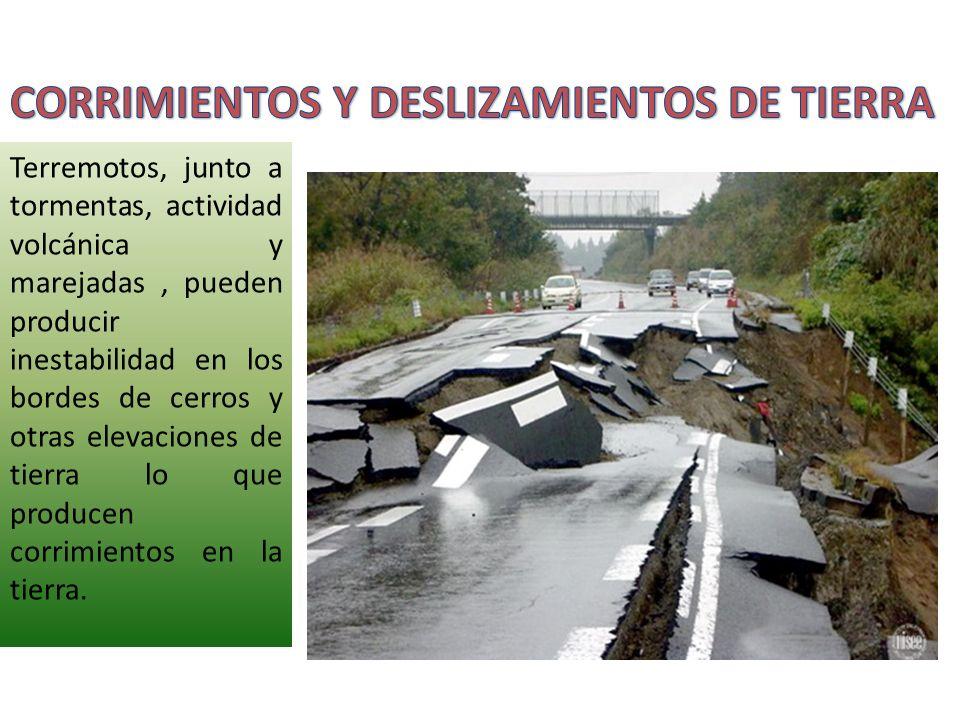 CORRIMIENTOS Y DESLIZAMIENTOS DE TIERRA