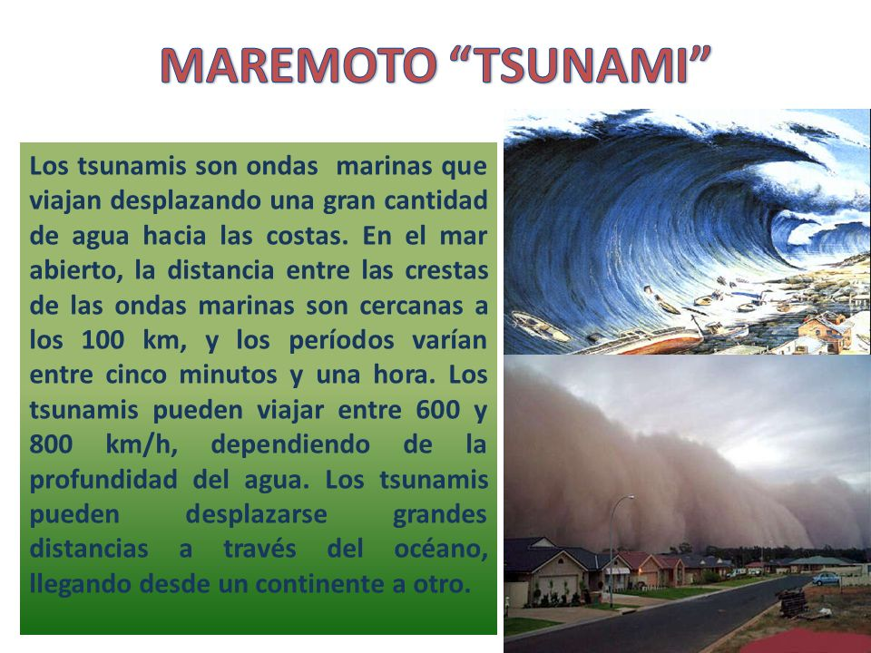 MAREMOTO TSUNAMI