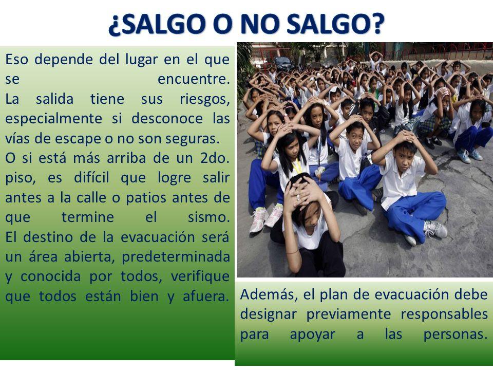 ¿SALGO O NO SALGO