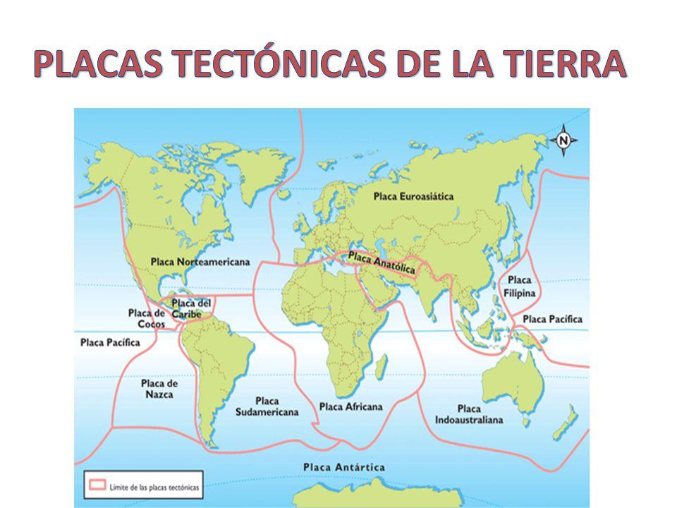 PLACAS TECTÓNICAS DE LA TIERRA