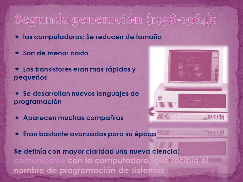 Segunda generación (1958-1964):