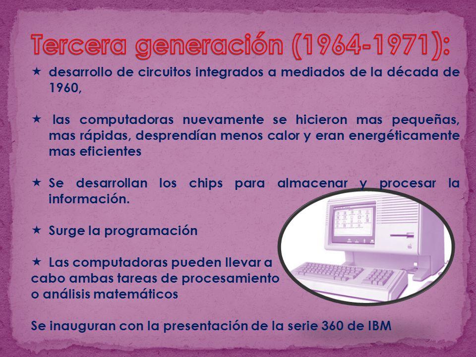 Tercera generación (1964-1971):