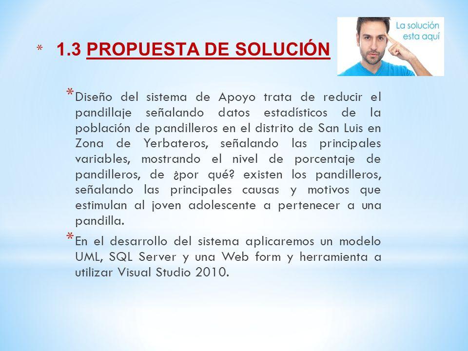 1.3 PROPUESTA DE SOLUCIÓN