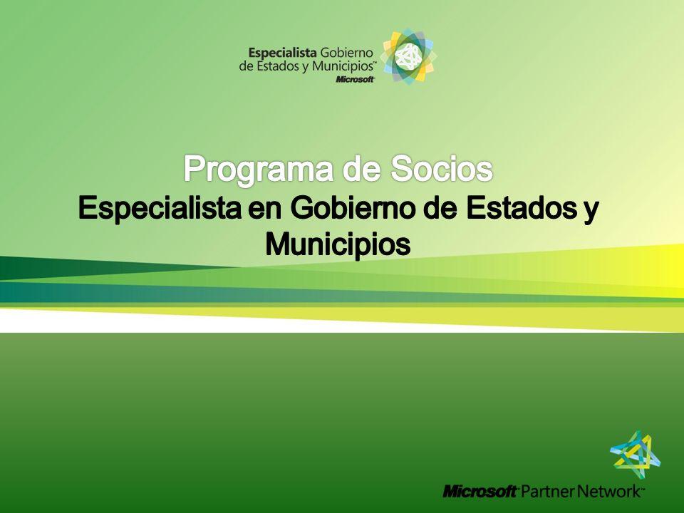 Programa de Socios Especialista en Gobierno de Estados y Municipios