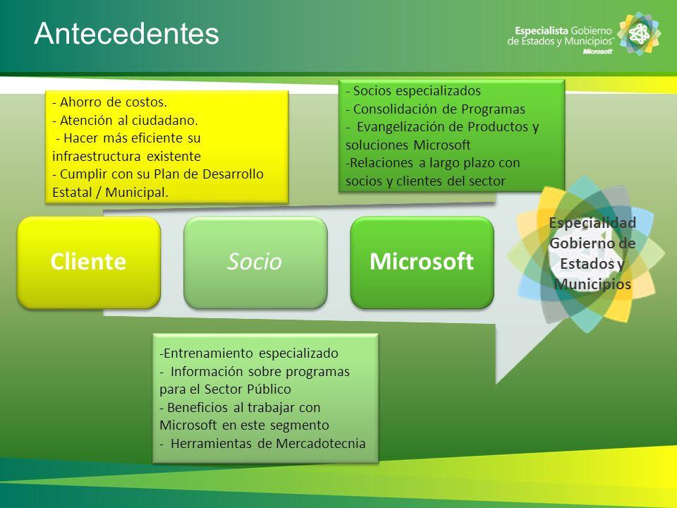 Especialidad Gobierno de Estados y Municipios