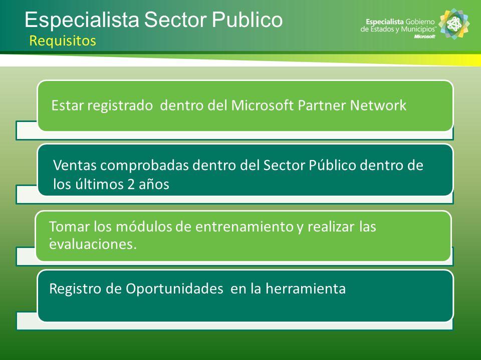 Especialista Sector Publico
