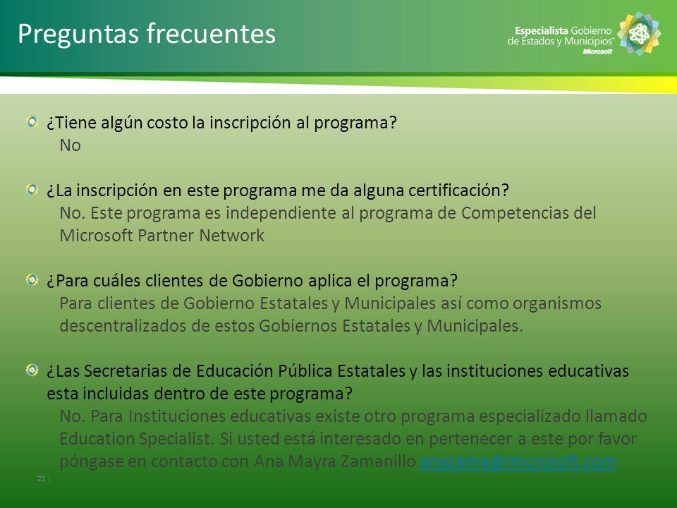 Preguntas frecuentes ¿Tiene algún costo la inscripción al programa No
