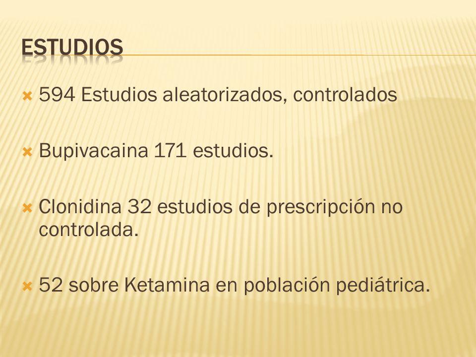 ESTUDIOS 594 Estudios aleatorizados, controlados