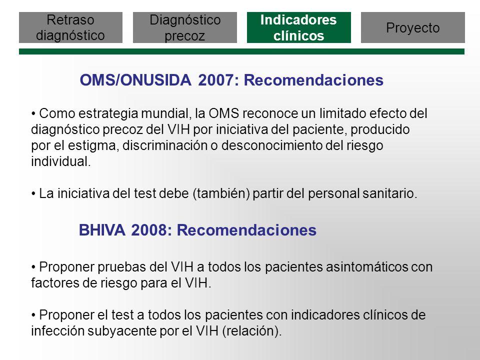 OMS/ONUSIDA 2007: Recomendaciones