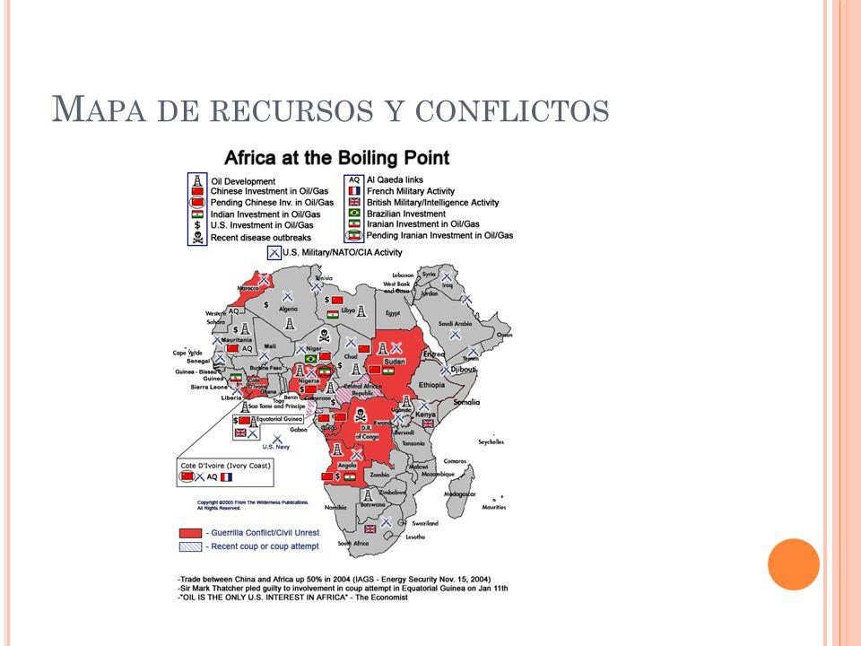 Mapa de recursos y conflictos
