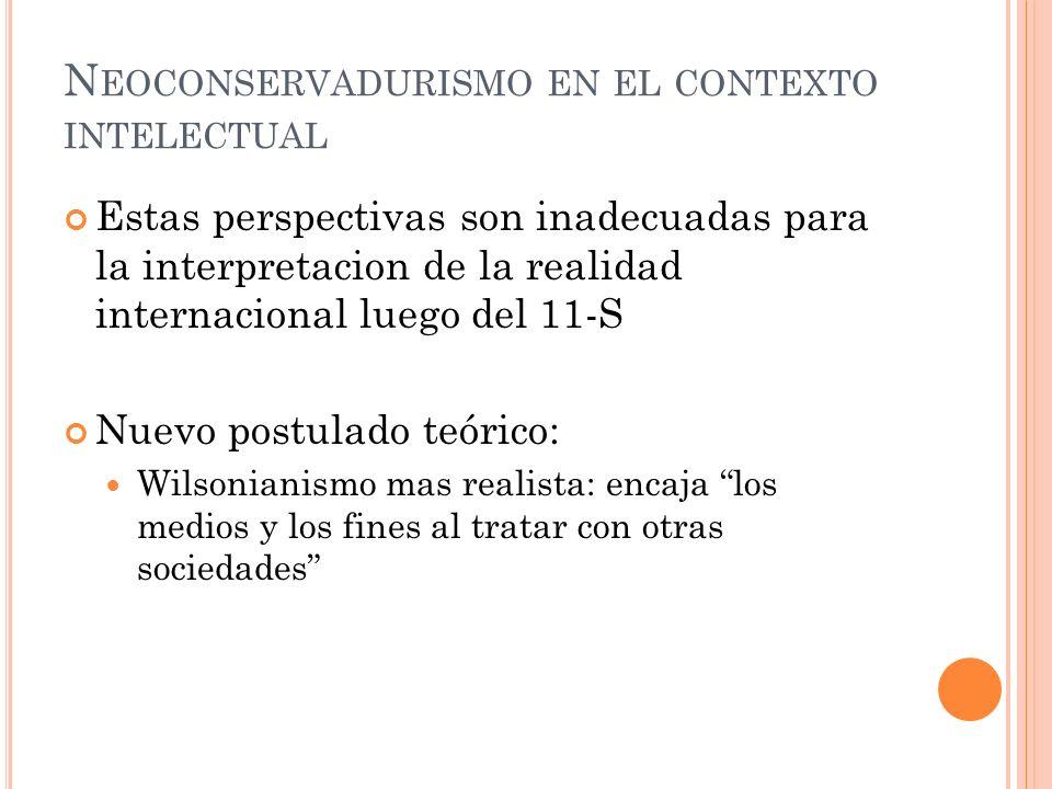 Neoconservadurismo en el contexto intelectual