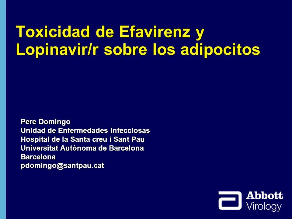 Toxicidad de Efavirenz y Lopinavir/r sobre los adipocitos