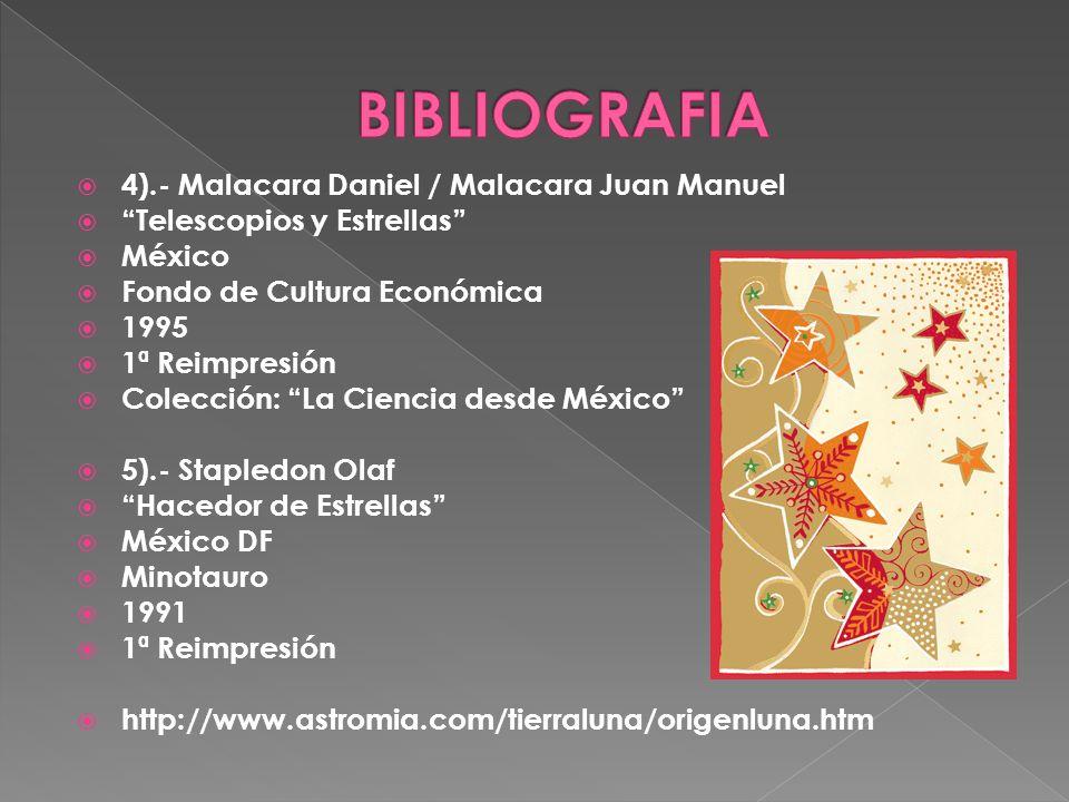 BIBLIOGRAFIA 4).- Malacara Daniel / Malacara Juan Manuel