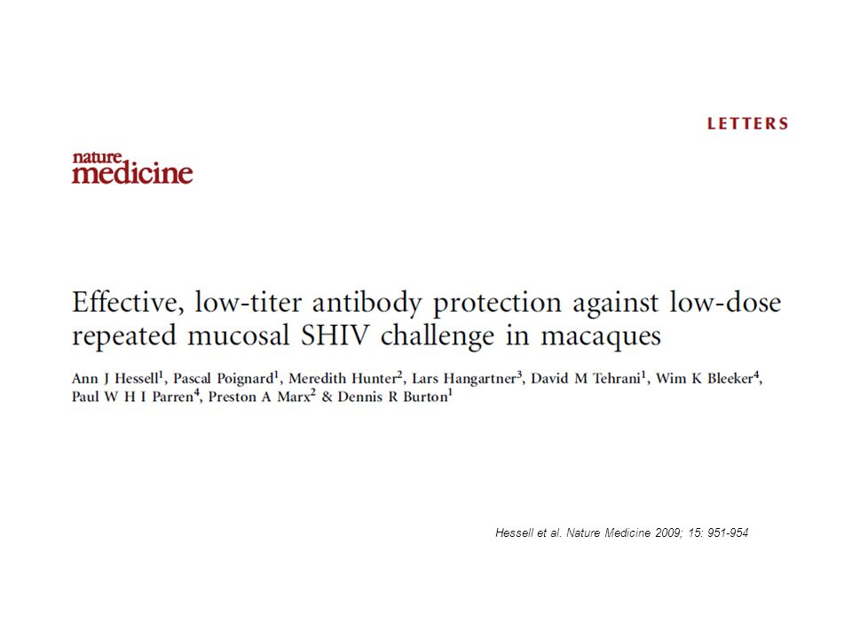 Hessell et al. Nature Medicine 2009; 15: 951-954