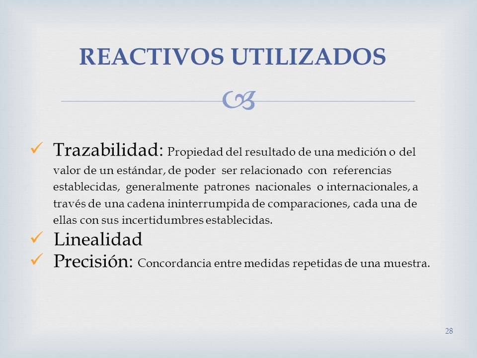 REACTIVOS UTILIZADOS