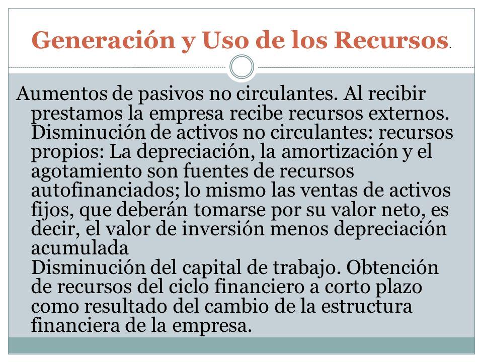 Generación y Uso de los Recursos.