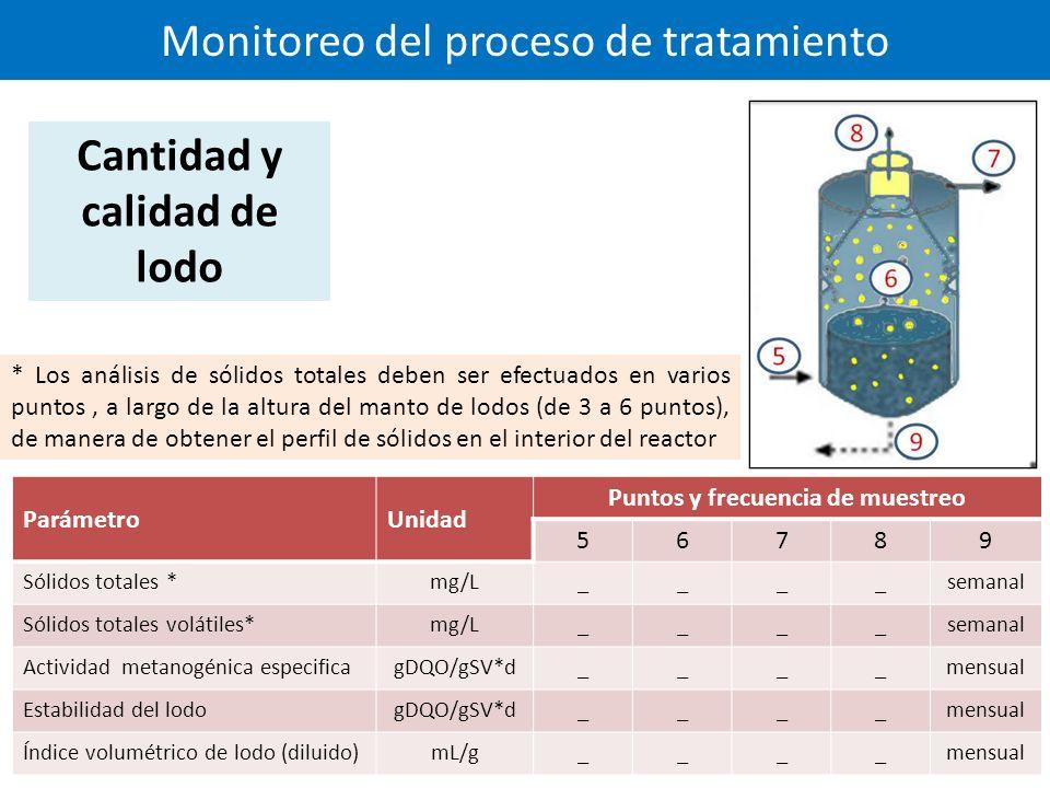 Monitoreo del proceso de tratamiento
