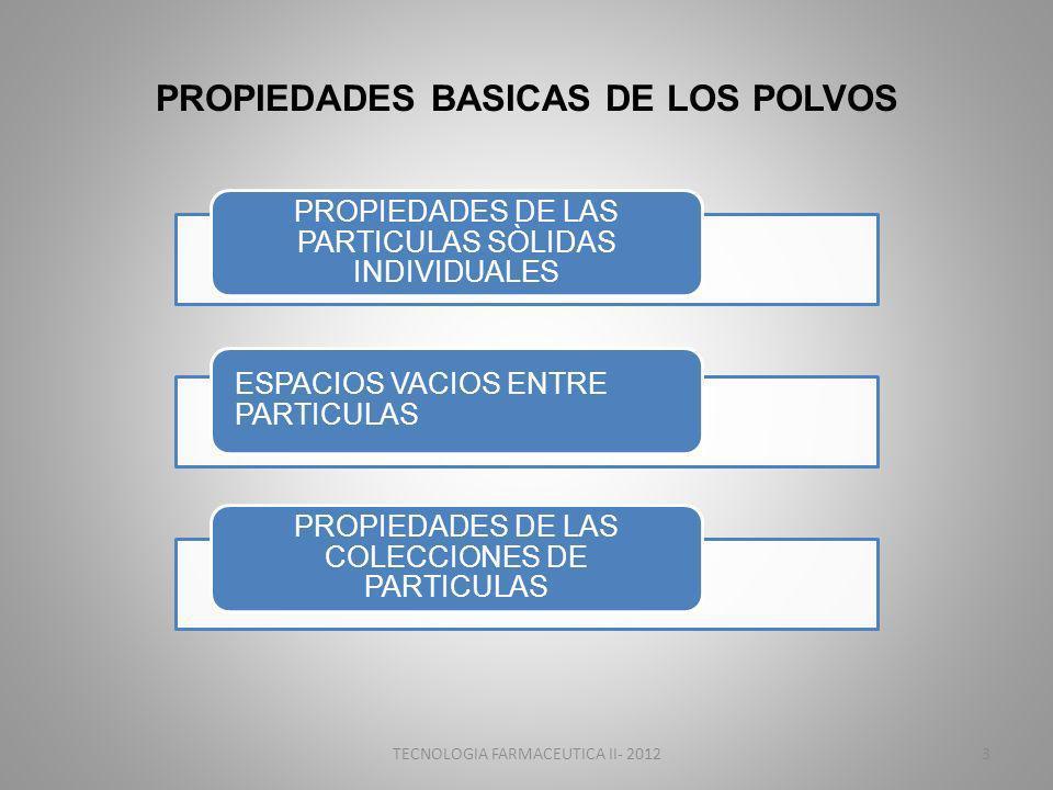 PROPIEDADES BASICAS DE LOS POLVOS