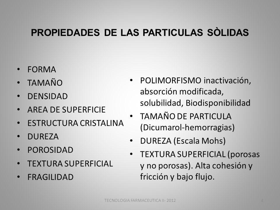 PROPIEDADES DE LAS PARTICULAS SÒLIDAS