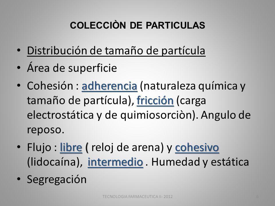 COLECCIÒN DE PARTICULAS