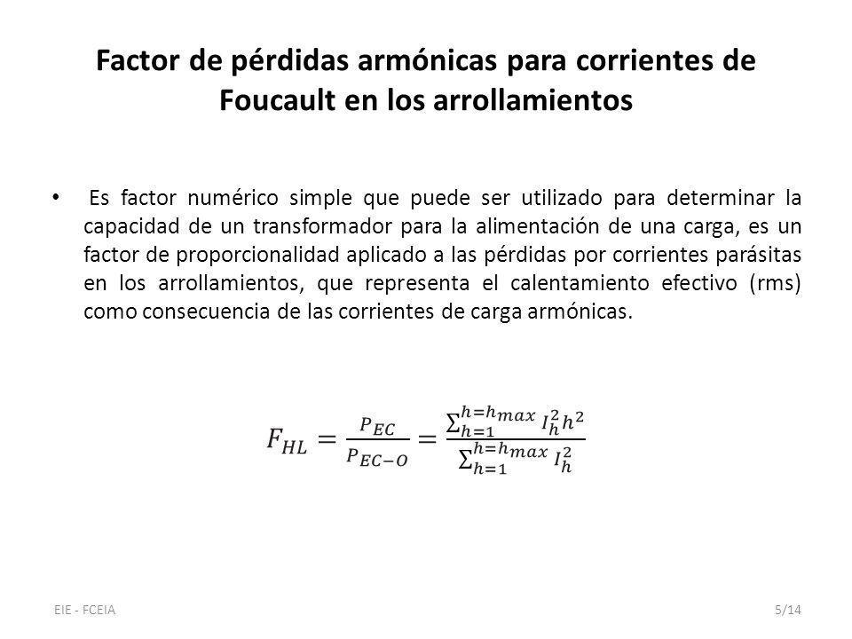 Factor de pérdidas armónicas para otras pérdidas por dispersión