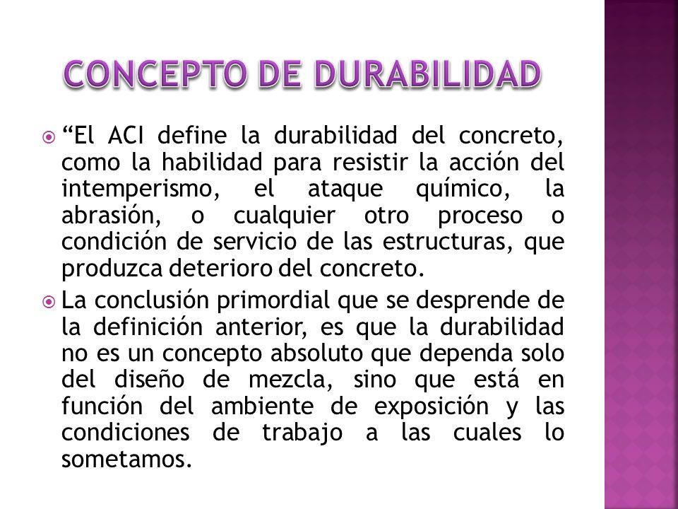 CONCEPTO DE DURABILIDAD