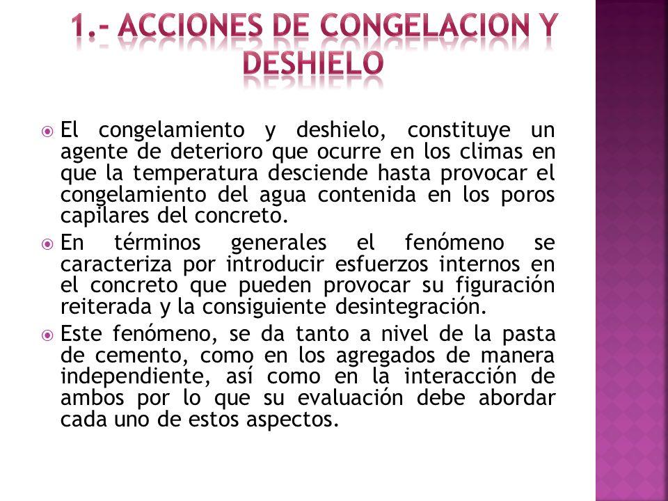 1.- ACCIONES DE CONGELACION Y DESHIELO