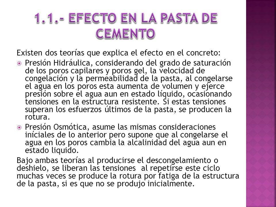 1.1.- EFECTO EN LA PASTA DE CEMENTO