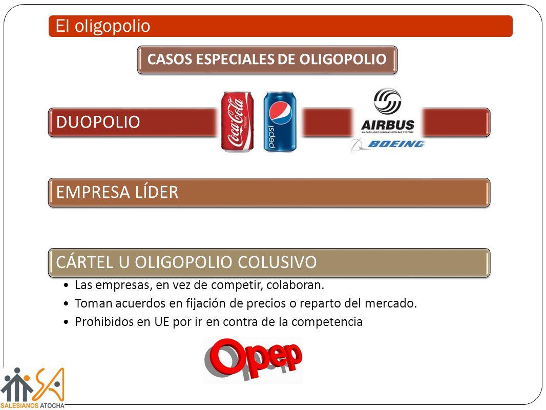 CASOS ESPECIALES DE OLIGOPOLIO
