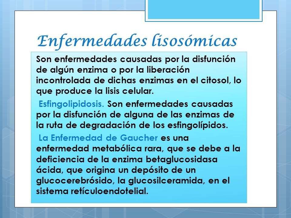 Enfermedades lisosómicas
