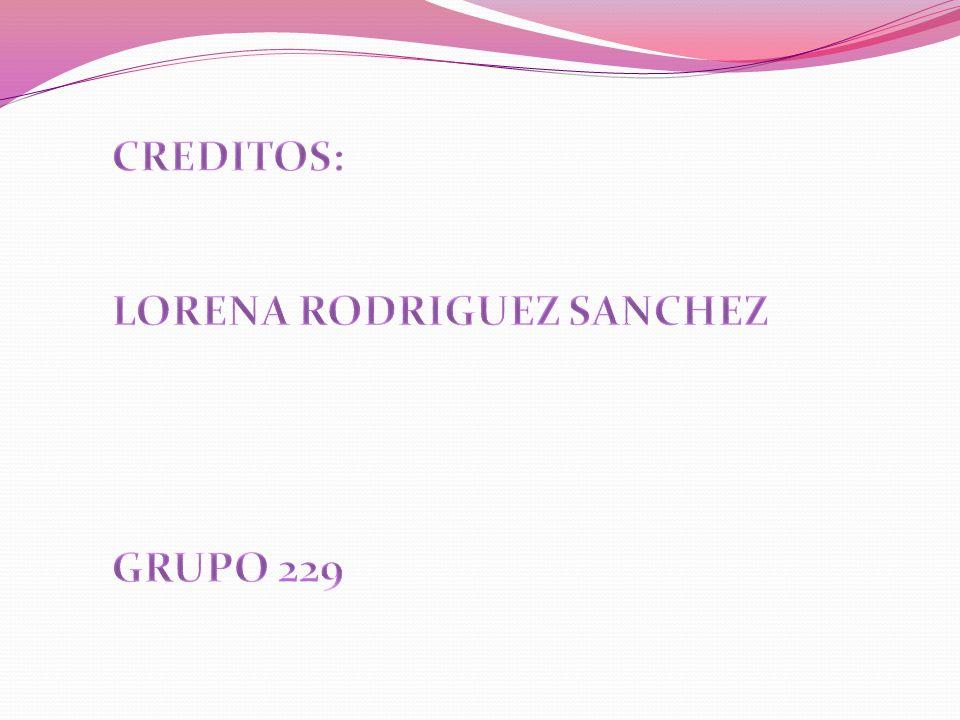 CREDITOS: LORENA RODRIGUEZ SANCHEZ GRUPO 229