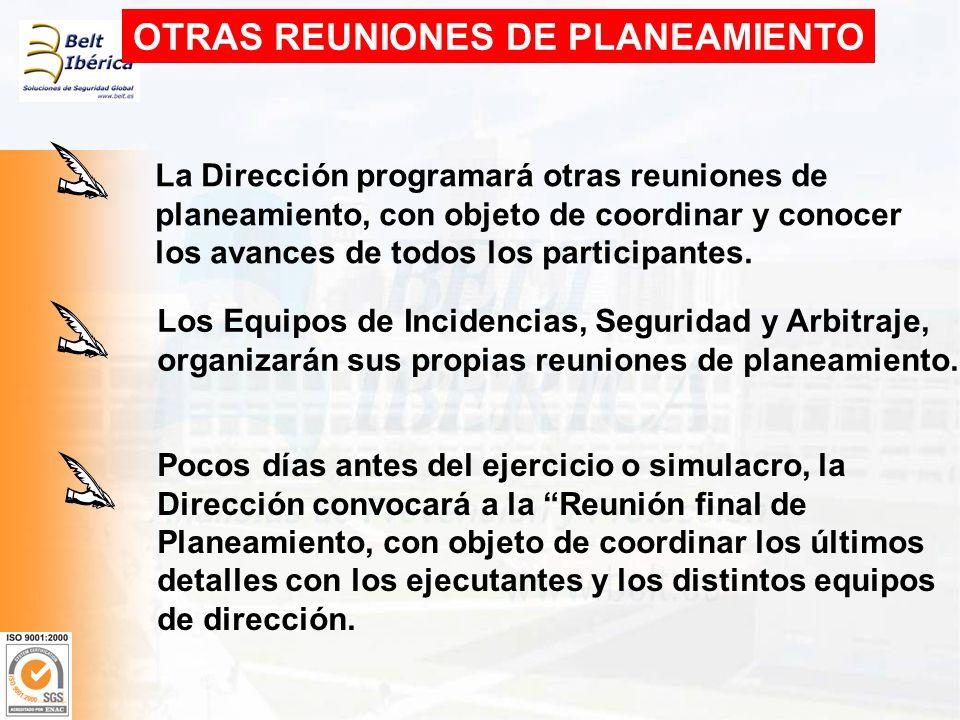 OTRAS REUNIONES DE PLANEAMIENTO