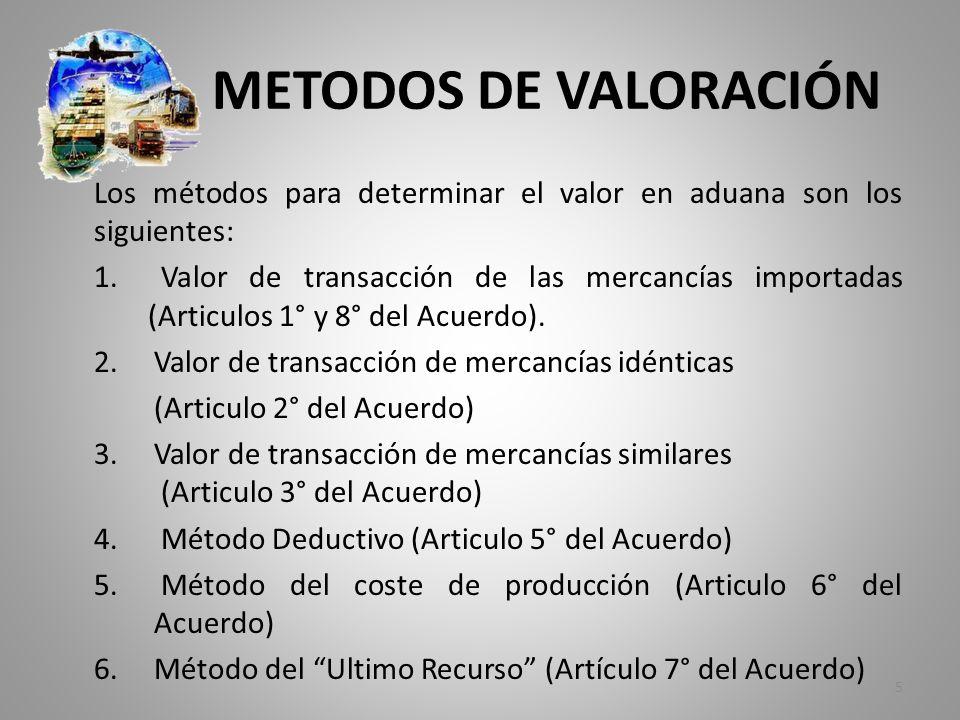 METODOS DE VALORACIÓN