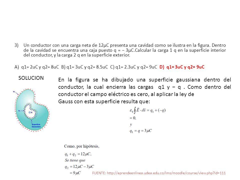 Gauss con esta superficie resulta que: