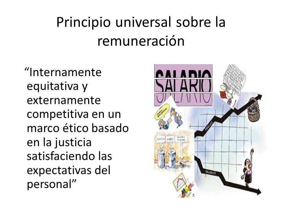 Principio universal sobre la remuneración