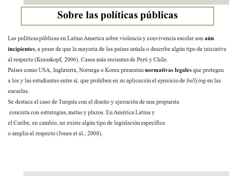 Sobre las políticas públicas