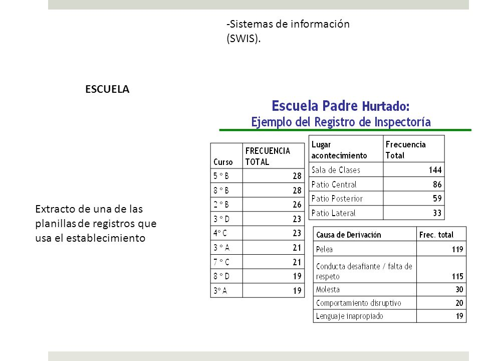 Sistemas de información (SWIS).