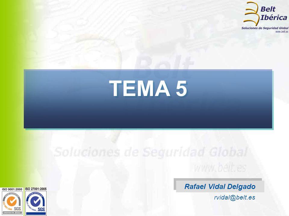 TEMA 5 Rafael Vidal Delgado rvidal@belt.es