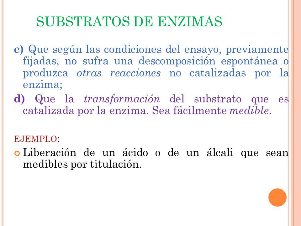 SUBSTRATOS DE ENZIMAS
