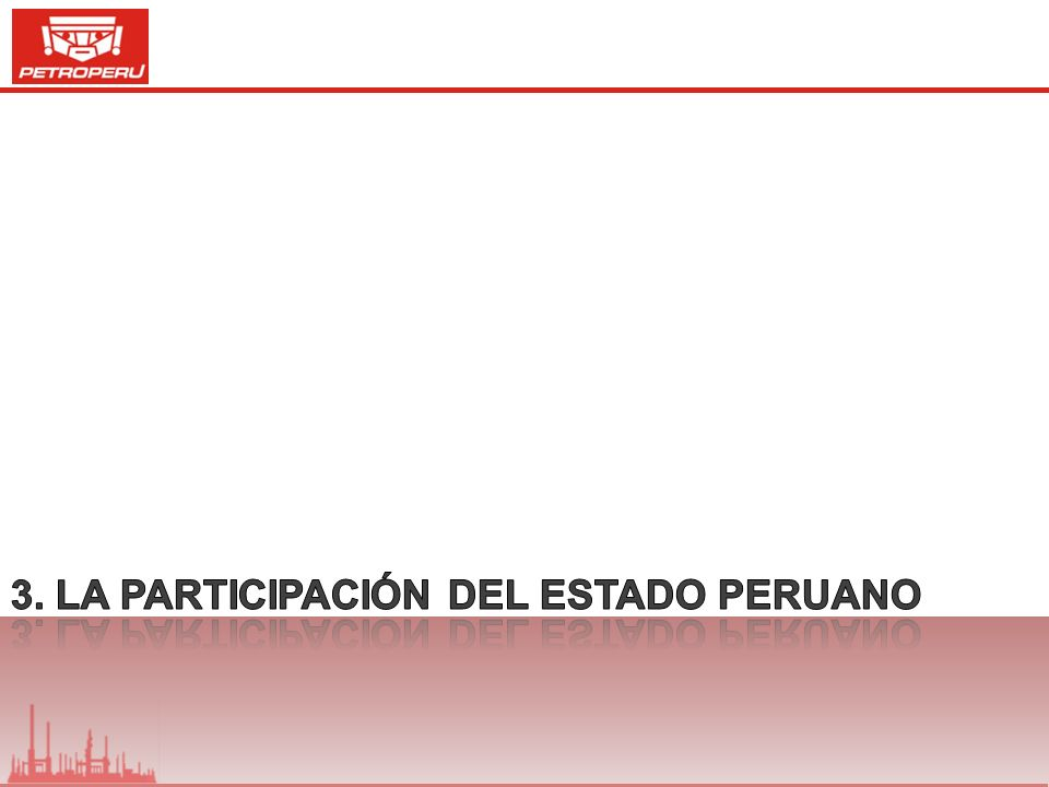3. La participación del estado peruano