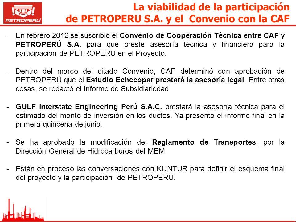La viabilidad de la participación de PETROPERU S. A