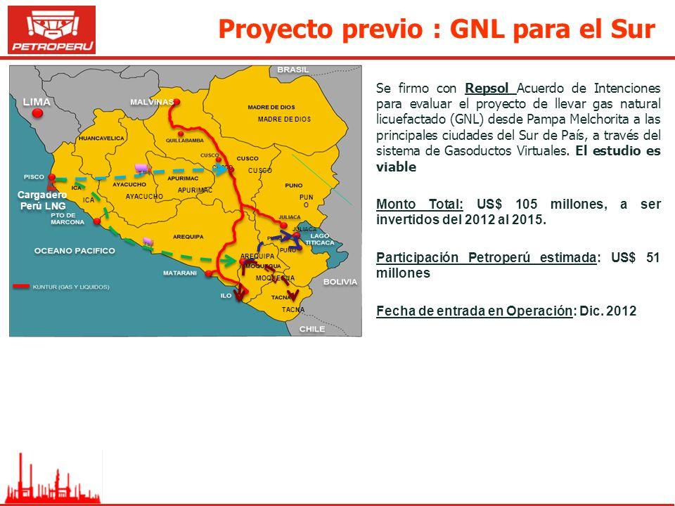 Proyecto previo : GNL para el Sur