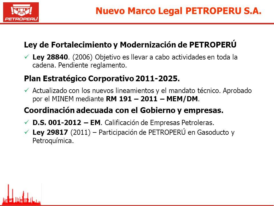Nuevo Marco Legal PETROPERU S.A.