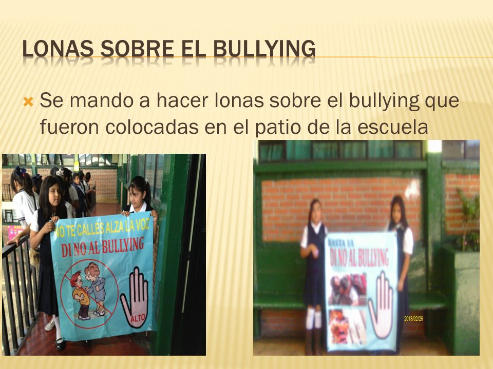 Lonas sobre el bullying