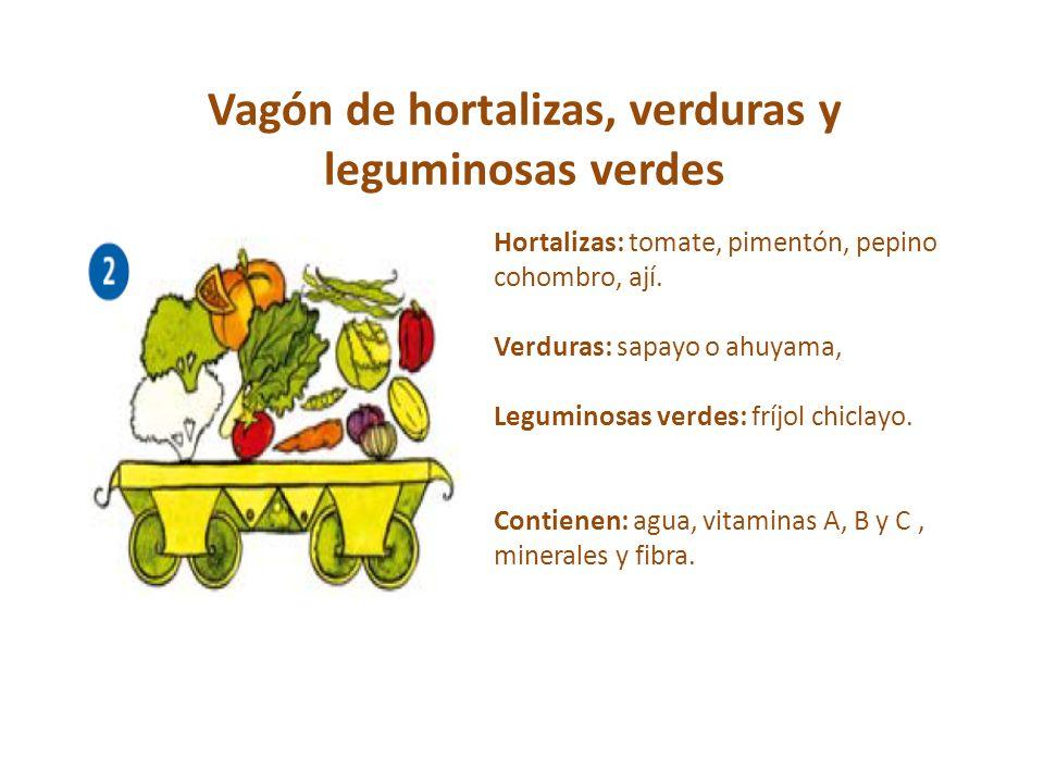 Vagón de hortalizas, verduras y leguminosas verdes