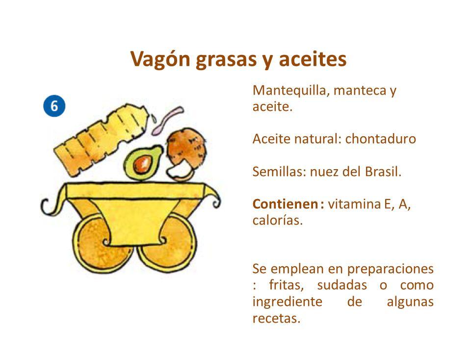 Vagón grasas y aceites Mantequilla, manteca y aceite.