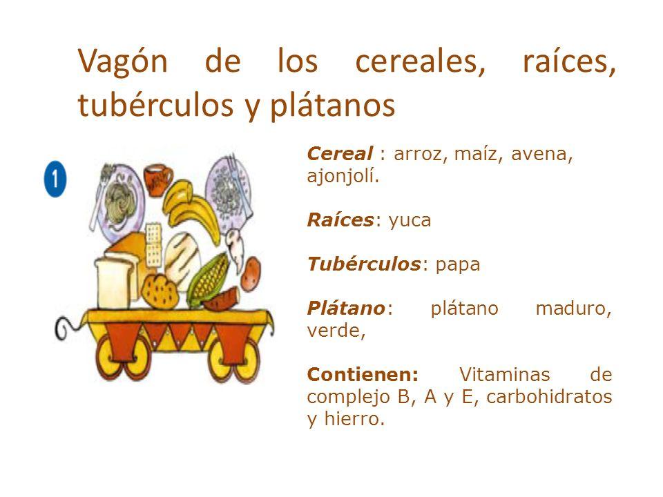 Vagón de los cereales, raíces, tubérculos y plátanos